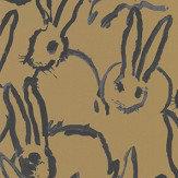 Lee Jofa Hunt Slonem Hutch Black / Gold Wallpaper - Product code: GWP-3413.40.0