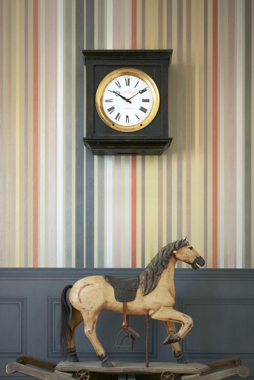 Cole & Son Carousel Stripe Linen Wallpaper - Product code: 108/6030