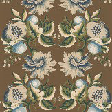 Lee Jofa Jessup Paper Sepia / Indigo Wallpaper - Product code: P2013101.650.0
