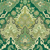 Cole & Son Pushkin Forest Green Wallpaper