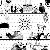 Dupenny Accessories Black / White Wallpaper - Product code: ACCESSORIES 10M BW
