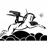 Art Decor Designs Diane on Horseback Black / White Wallpaper - Product code: DOH 01 B-W