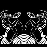Art Decor Designs Dancing Girls White / Black Wallpaper - Product code: DG 02 W-B