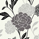 Arthouse Carla Motif Black Wallpaper