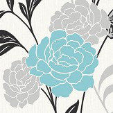 Arthouse Carla Motif Teal Wallpaper