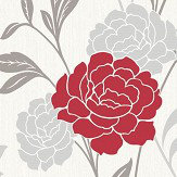 Arthouse Carla Motif Red Wallpaper
