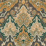 Cole & Son Pushkin Ginger and Charcoal Wallpaper