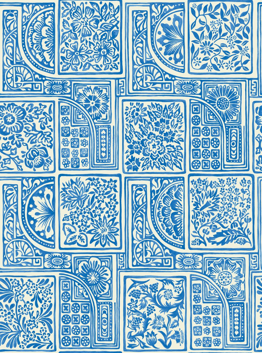 Cole & Son Bellini Blue Wallpaper main image
