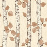 Albany Birchwood Autumnal Gold Wallpaper