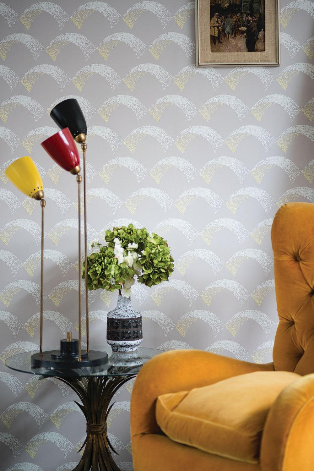 Farrow & Ball Arcade Mushroom Wallpaper - Product code: BP 5304