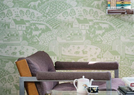 Farrow & Ball Gable Apple Wallpaper