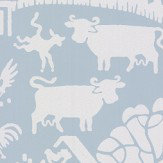 Farrow & Ball Gable Blue Wallpaper