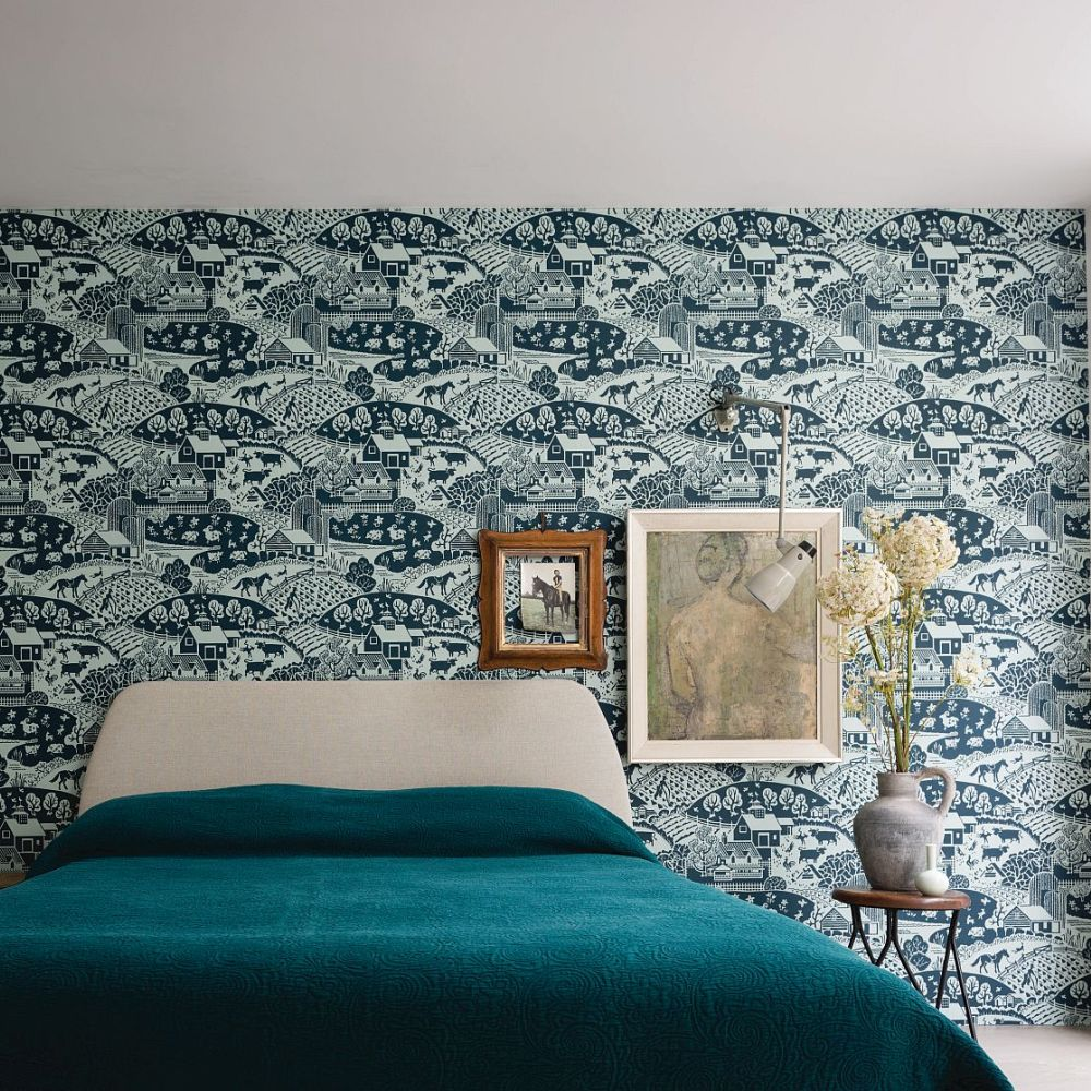 Gable Wallpaper - Green - by Farrow & Ball