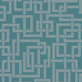 Farrow & Ball Enigma Teal Wallpaper
