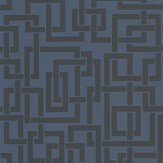 Farrow & Ball Enigma Dark Blue Wallpaper - Product code: BP 5507