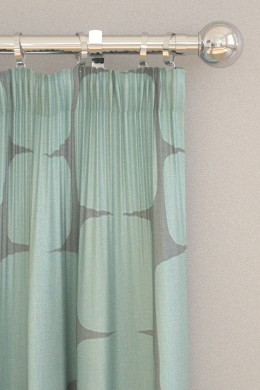 Lohko Curtains By Scion Mist And Graphite Fabric