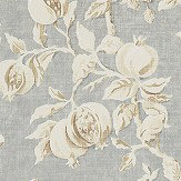 Sanderson Magnolia & Pomegranate Grey Blue / Parchment Fabric - Product code: 225505