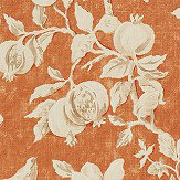 Sanderson Magnolia & Pomegranate Russet / Wheat Fabric - Product code: 225506