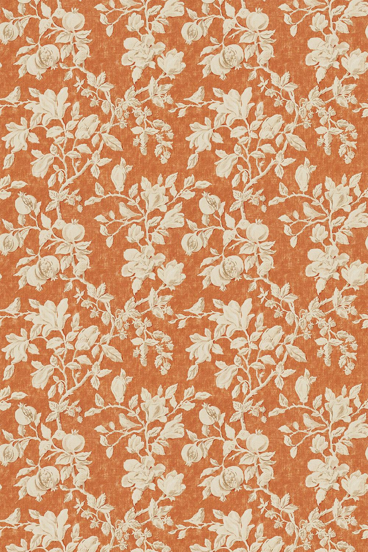 Magnolia & Pomegranate Fabric - Russet / Wheat - by Sanderson