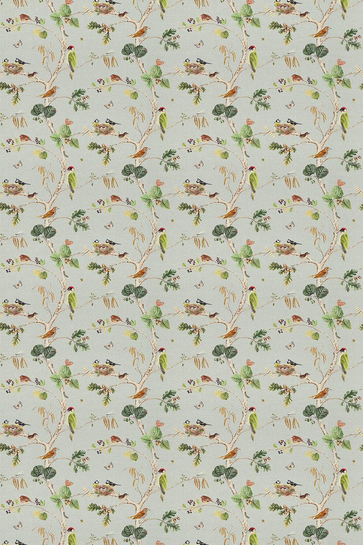 Woodland Chorus Fabric - Sky Blue / Multi - by Sanderson