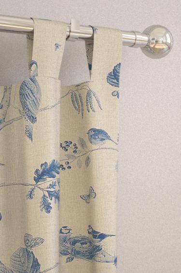 Woodland Chorus curtains by Sanderson - Indigo / Linen : Wallpaper ...
