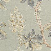 Sanderson Chestnut Tree Grey Blue / Sage Fabric