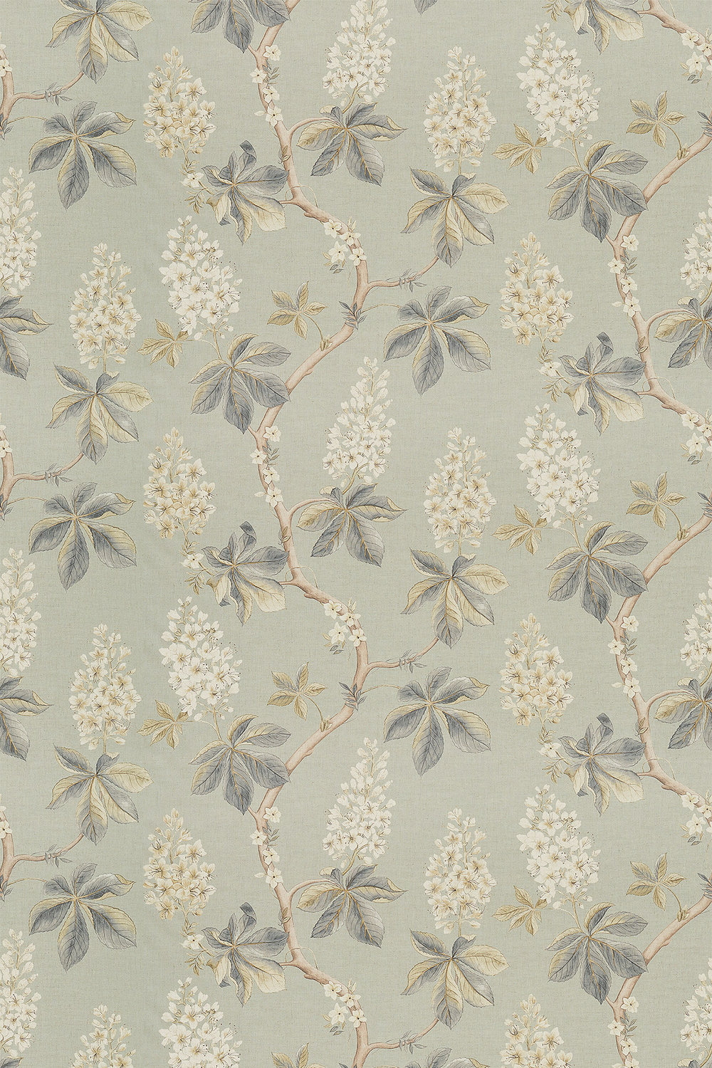 Sanderson Chestnut Tree Grey Blue / Sage Fabric - Product code: 225513