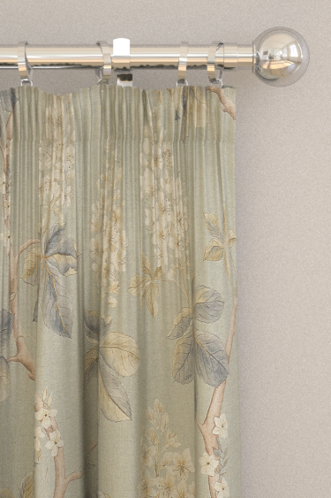 Sanderson Chestnut Tree Grey Blue / Sage Curtains - Product code: 225513