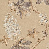 Sanderson Chestnut Tree Wheat / Pebble Fabric