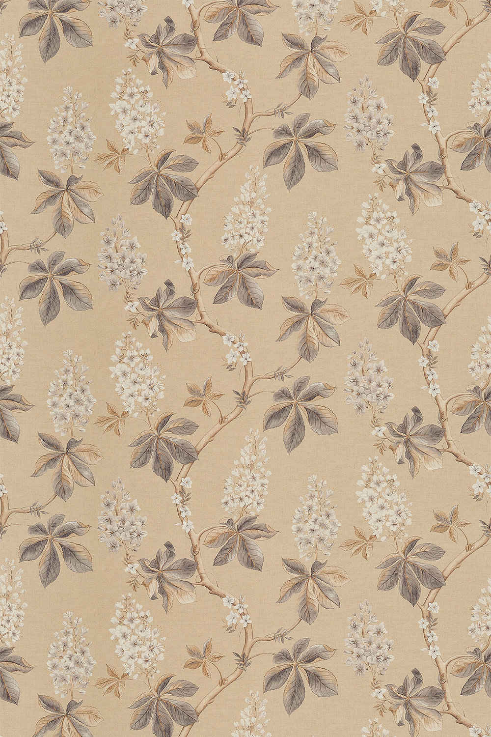 Chestnut Tree By Sanderson Wheat Pebble Wallpaper Direct