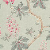 Sanderson Chestnut Tree Seaspray / Peony Fabric