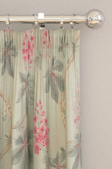 Sanderson Chestnut Tree Seaspray / Peony Curtains
