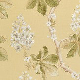 Sanderson Chestnut Tree Lemon / Lettuce Fabric - Product code: 225516