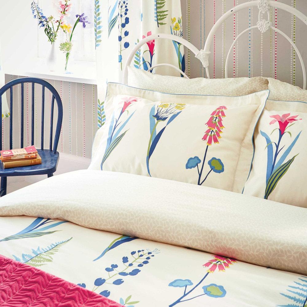 Sanderson Floral Bazaar Duvet Duvet Cover extra image