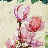Albany Magnolia Garden Green / Pink Wallpaper - Product code: 870107
