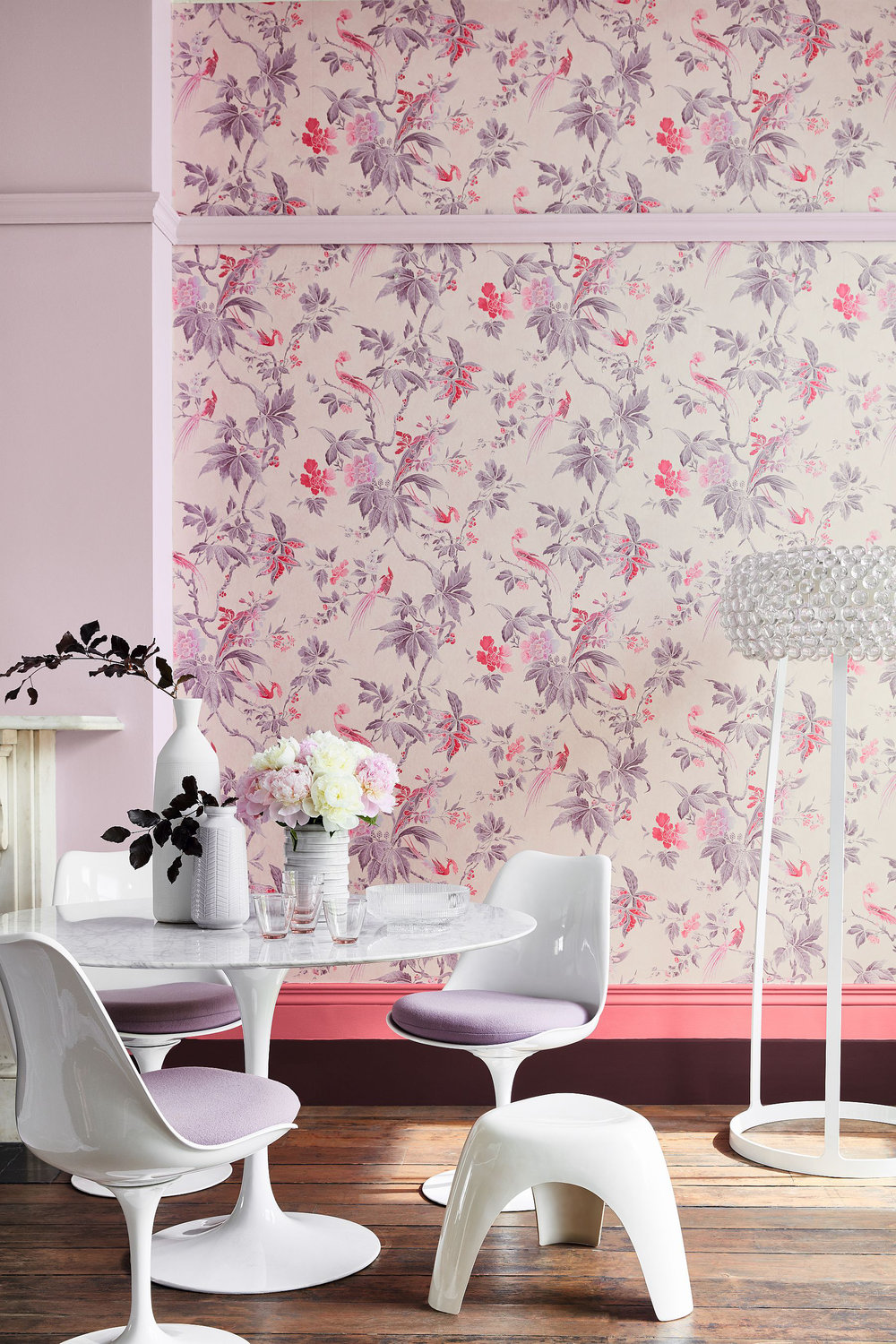Little Greene Paradise Pink Wallpaper - Product code: 0247PAPINKZ