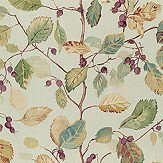Sanderson Woodland Berries Bayleaf / Fig Fabric - Product code: 225529