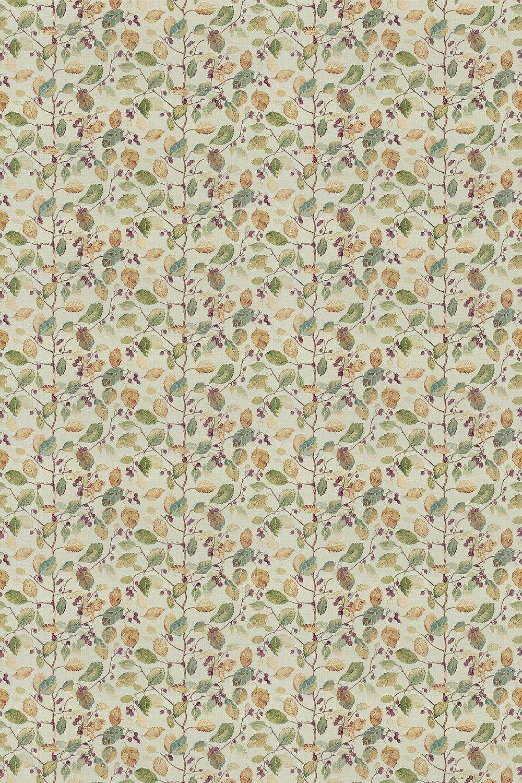 Woodland Berries Fabric - Bayleaf / Fig - by Sanderson