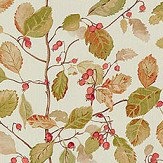 Sanderson Woodland Berries Rosehip / Moss Fabric