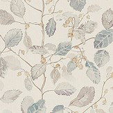 Sanderson Woodland Berries Grey / Silver Fabric
