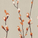 Harlequin Salice Tangerine / Gilver Wallpaper - Product code: 111470