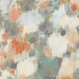 Harlequin Exuberance Tangerine / Sepia Wallpaper
