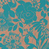 Harlequin Coquette Turquoise  Wallpaper - Product code: 111481
