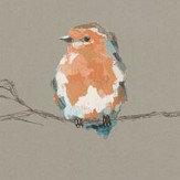 Harlequin Persico Tangerine / Duck Egg Wallpaper