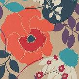 Harlequin Doyenne Tangerine / Fuchsia / Turquoise Wallpaper