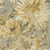 Harlequin Floreale Ochre / Gilver Wallpaper - Product code: 111495