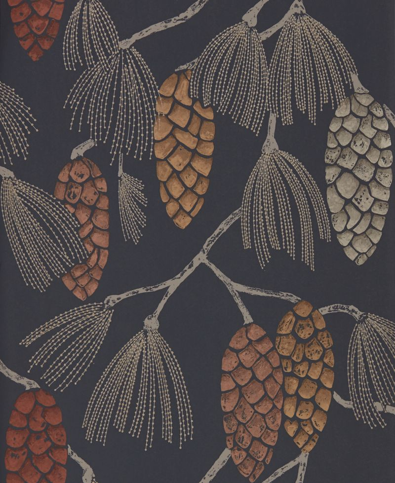 Epitome By Harlequin Copper Gold Sepia Wallpaper Direct