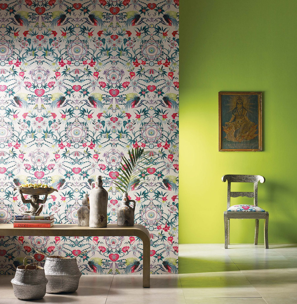 Matthew Williamson Menagerie Cerise / Teal Wallpaper extra image