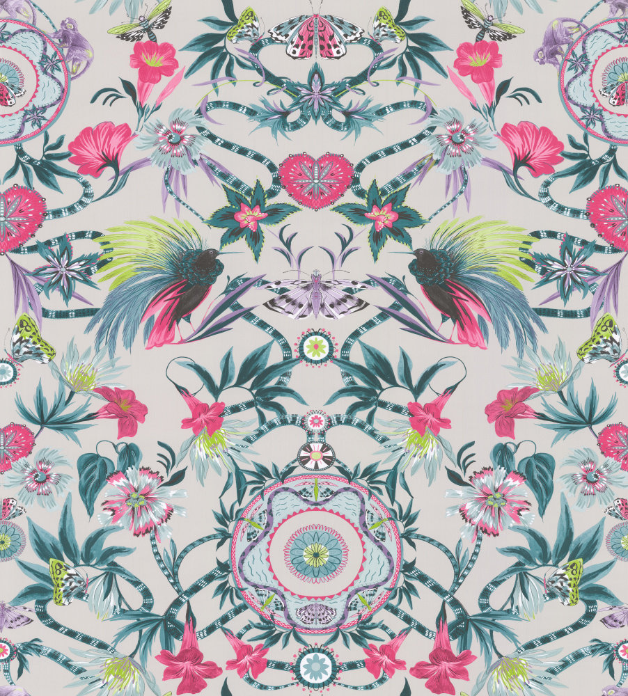 Matthew Williamson Menagerie Cerise / Teal Wallpaper main image