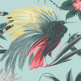 Matthew Williamson Menagerie Mint / Scarlet Wallpaper